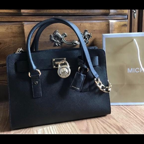 e90ea74a33b3  298 Michael Kors Hamilton Handbag MK Bag Purse